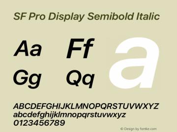 SF Pro Display Semibold Italic Version 16.0d9e1图片样张