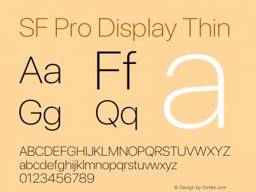 SF Pro Display Thin Version 16.0d9e1图片样张