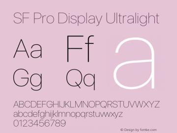 SF Pro Display Ultralight Version 16.0d9e1图片样张