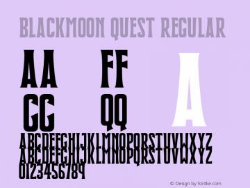Blackmoon Quest Version 1.10;July 15, 2020;FontCreator 12.0.0.2567 64-bit图片样张