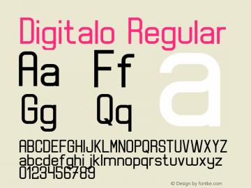 Digitalo Version 1.00;July 15, 2020;FontCreator 12.0.0.2567 32-bit图片样张