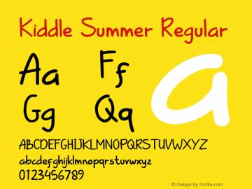 Kiddle Summer Version 1.008;Fontself Maker 3.5.1图片样张
