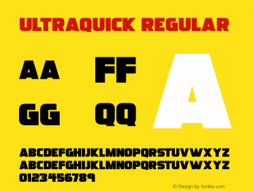 Ultraquick Version 1.00;July 17, 2020;FontCreator 12.0.0.2567 64-bit图片样张