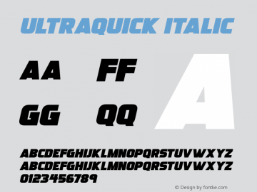 Ultraquick Italic Version 1.00;July 17, 2020;FontCreator 12.0.0.2567 64-bit图片样张