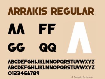 Arrakis Version 1.005;Fontself Maker 3.5.1图片样张