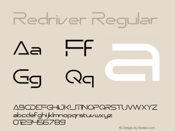 Redriver Version 1.00;July 2, 2020;FontCreator 11.5.0.2422 32-bit图片样张