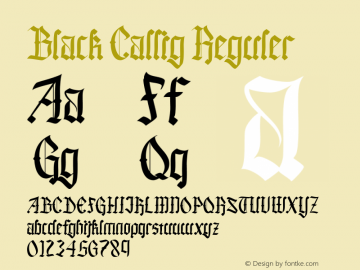 Black Callig Version 1.000图片样张