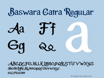 BaswaraCatra Version 1.000图片样张