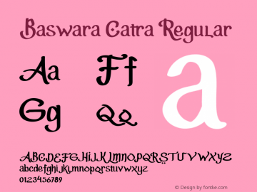 Baswara Catra Version 1.000图片样张