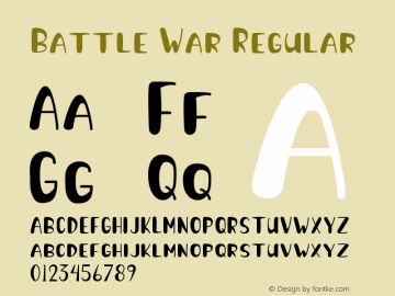 Battle War Version 1.001;Fontself Maker 3.5.1图片样张