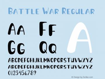 Battle War Version 1.001;Fontself Maker 3.5.1图片样张