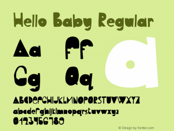HelloBabyRegular Version 1.003;Fontself Maker 3.5.1图片样张