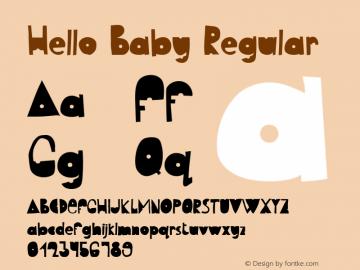 Hello Baby Version 1.003;Fontself Maker 3.5.1图片样张