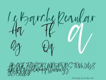 Le Barche Version 1.00;July 27, 2020;FontCreator 12.0.0.2567 32-bit图片样张