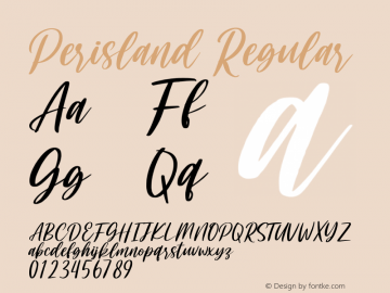 Perisland Version 1.00;July 27, 2020;FontCreator 12.0.0.2567 32-bit图片样张