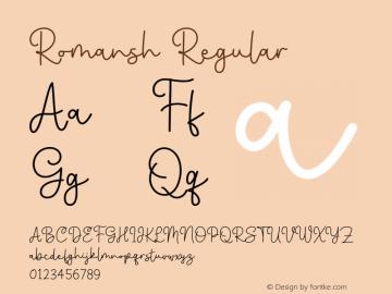 Romansh-Regular Version 1.000图片样张