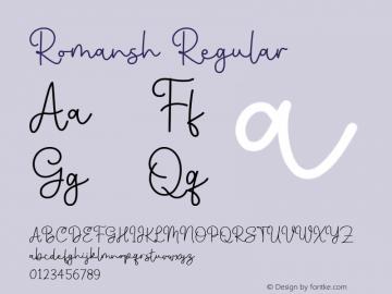 Romansh Regular Version 1.000图片样张