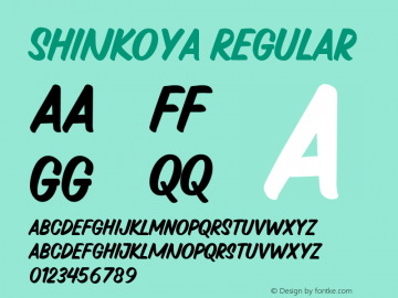 Shinkoya Regular 1.0图片样张