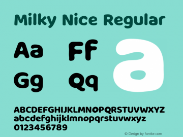 Milky Nice Version 1.002;Fontself Maker 3.5.1图片样张