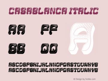 Casablanca Italic Version 1.000图片样张