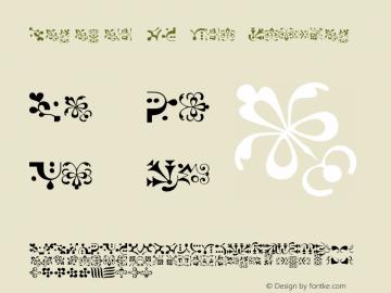Caravan LH One Regular Version 2.0; 2000; initial release Font Sample