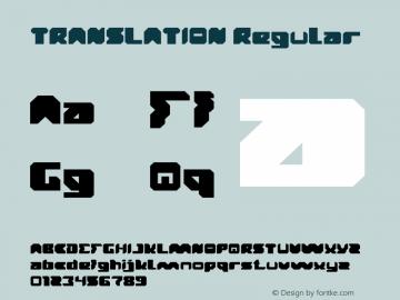 TRANSLATION Version 1.00;October 12, 2019;FontCreator 11.5.0.2430 64-bit Font Sample