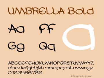 UMBRELLA Bold Version 1.00;October 17, 2019;FontCreator 11.5.0.2430 64-bit图片样张