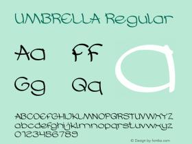 UMBRELLA Version 1.00;October 17, 2019;FontCreator 11.5.0.2430 64-bit图片样张