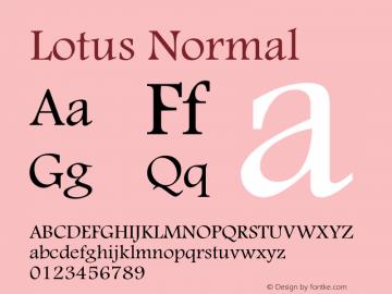 Lotus Normal Macromedia Fontographer 4.1 16/09/97 Font Sample