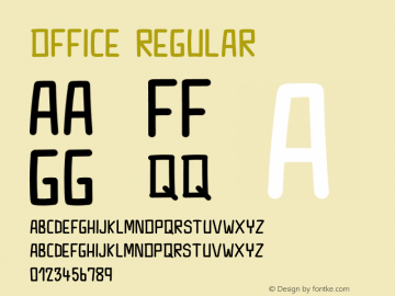 Office Version 1.012;Fontself Maker 3.5.1图片样张