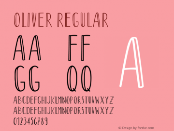 Oliver Version 1.001;Fontself Maker 3.5.1图片样张