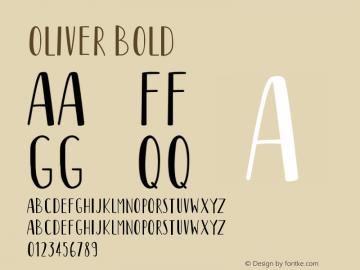 Oliver Bold Version 1.002;Fontself Maker 3.5.1图片样张