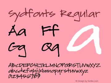 Sydfonts Regular 2009; 1.0, initial release Font Sample