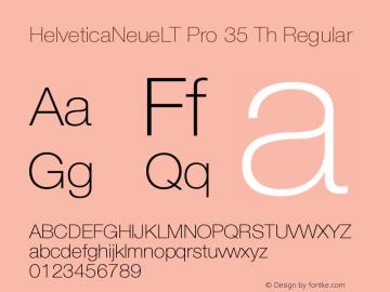 HelveticaNeueLT Pro 35 Th Regular Version 1.10; 2008图片样张
