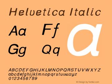 Helvetica-Italic Version 001.000图片样张