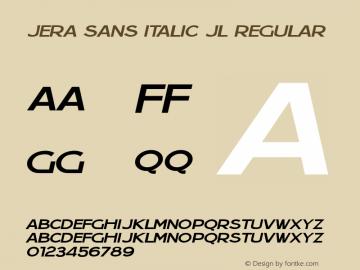 Jera Sans Italic JL Regular Version 1.0图片样张