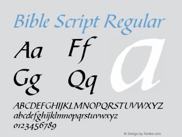 Bible Script Font,Bible Script Master Font,BibleScrT Font