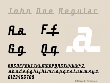 John Doe Regular 2 Font Sample