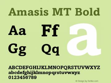 Amasis MT Bold 001.003图片样张