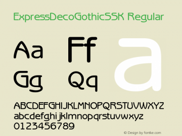 ExpressDecoGothicSSK Regular Altsys Metamorphosis:8/24/94 Font Sample