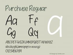 Purchuse Version 1.00;August 26, 2020;FontCreator 12.0.0.2525 64-bit图片样张