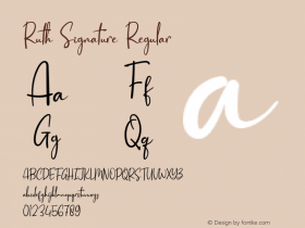 Ruth Signature Version 1.001;Fontself Maker 3.5.1图片样张