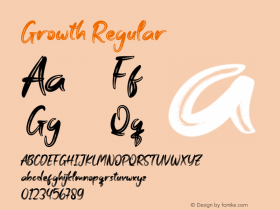 Growth Version 1.001;Fontself Maker 3.5.1 Font Sample