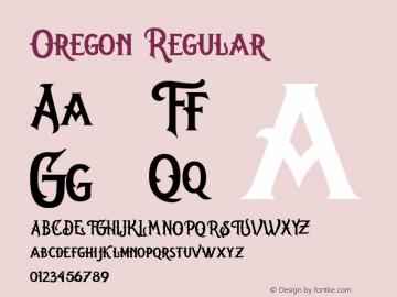 Oregon Regular Version 1.000;hotconv 1.0.109;makeotfexe 2.5.65596图片样张