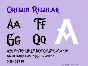 Oregon Regular Version 1.000图片样张