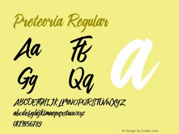 Preteoria Regular Version 1.000;hotconv 1.0.109;makeotfexe 2.5.65596图片样张