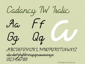 Cadancy IW Italic Version 1.000图片样张