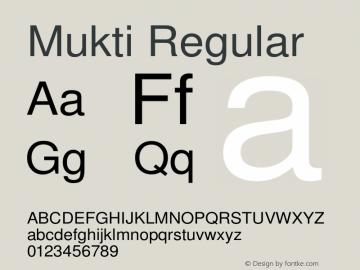 Mukti Version 2.1 October 1, 2018 Font Sample