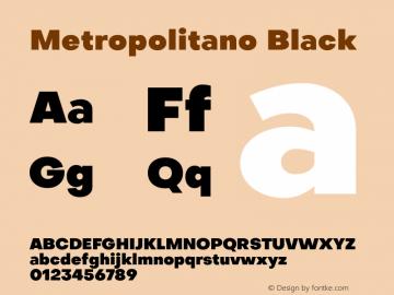 Metropolitano Black Version 1.00;August 30, 2020;FontCreator 13.0.0.2681 64-bit图片样张
