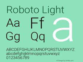 Roboto Light Version 2.000980; 2014图片样张